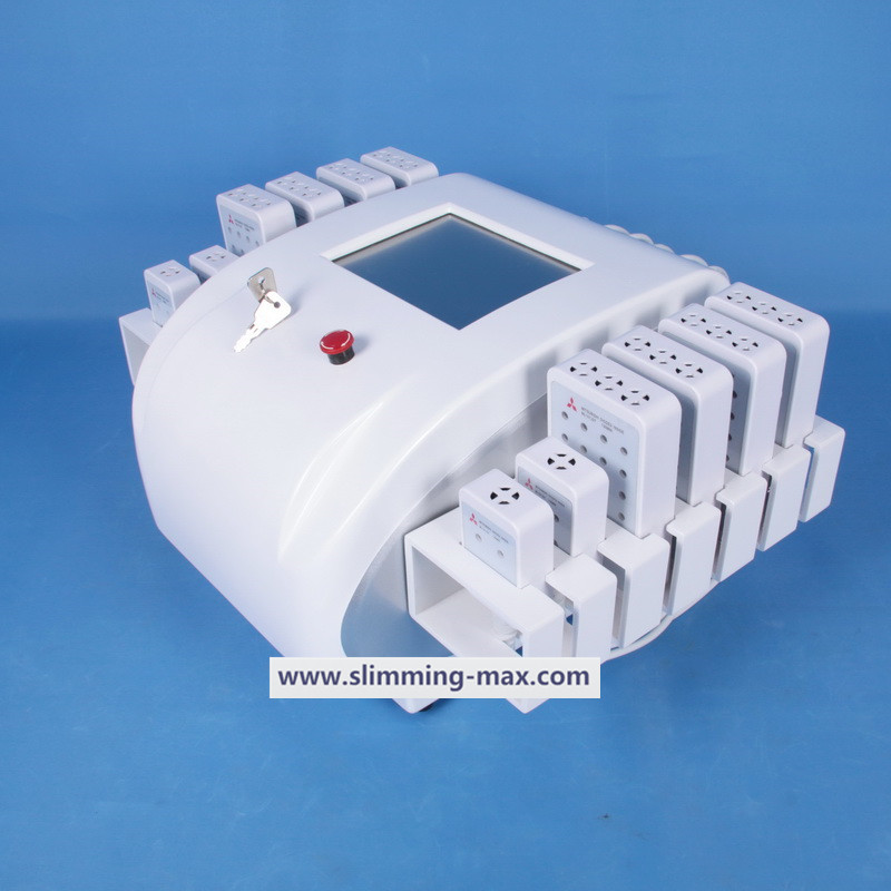 12pads Dual wavelength Lipo Laser with 650nm and 980nm