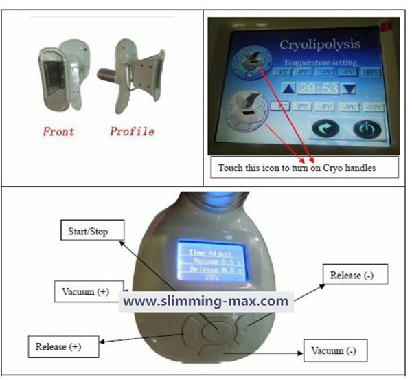 2 handle cryolipolysis machine